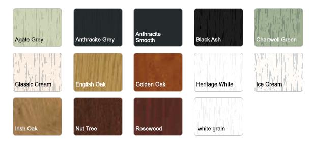 wood-grain foil colours windows