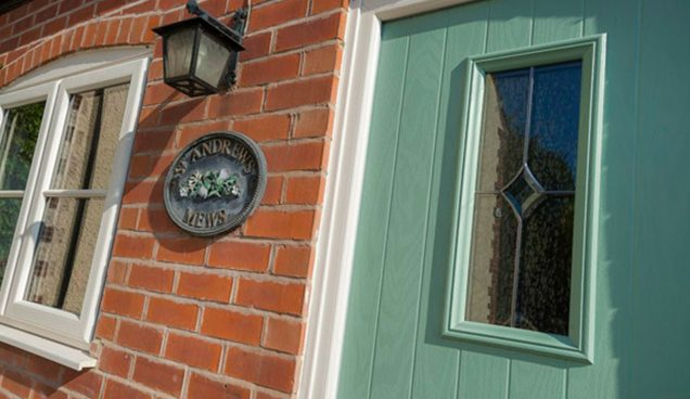 house front door and window